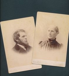 now in my #etsy shop: 2 antique cabinet cards ID'd couple Mr & Mrs Bloodgood, Clinton, Iowa, 1880's http://etsy.me/2njsiae #art #photography #epsteam #cabinetphotographs #antiquephotographs #1800s1880s #studioportraits #couplephotos #mr