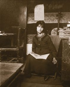 Jeanne Hebuterne modeled for Foujita before becoming muse and mate of Amedeo Modigliani. After his death in January of 1920, she ended her own brief life that same month.