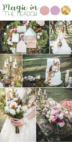 Magic in the Meadow - A Forest Fairtyale Wedding Inspiration Lavender Wedding Colors, Purple Wedding, Perfect Wedding, Dream Wedding, Forest Wedding Invitations, Wedding Planning Guide, Woodland Wedding, Wedding Trends, Wedding Table