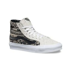 9527ddc6e80 Vans Sk8-Hi Slim High Top ( 53) ❤ liked on Polyvore featuring shoes · White  High Top SneakersMetallic ...