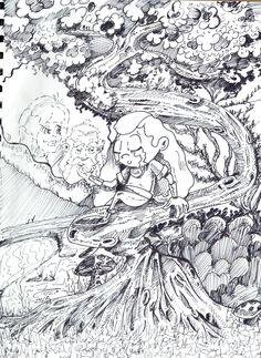"""Sketch - Poster 4 - história: """"Arteip e o medalhão de fogo"""" - feito por: Darci Campioti - visite meu blog: http://institutodeartesdarcicampioti.blogspot.com.br/"""