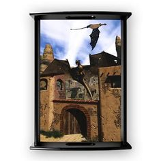 #Dragon Land 3 Large #Serving #Tray Dragons watch over an ancient #ruined city! A fantastic fantasy scene!  $51.69