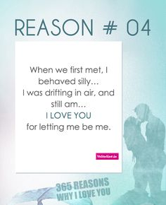Reasons why I love you #4