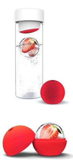 Fruit Infused Ice-Ball Water Bottle