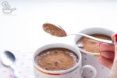 Mousse de chocolate com doce de leite... diliça!