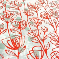 Poppies n polka dots!  #screenprinting #textiles #surfacedesign #handprinted #color