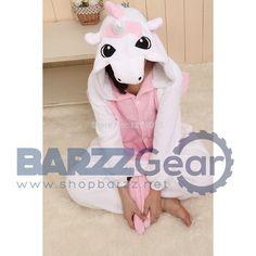 Cute Unicorn Animal Onesie Pajamas Unisex Flannel Romper