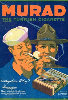 "Murad, 1917, World War 1. ""Makers of the Highest Grade Turkish and Egyptian Cigarettes in the World."""