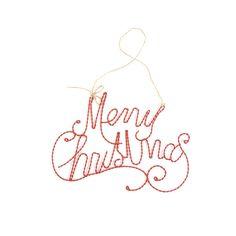 Schriftzug Merry Christmas Draht rot ca. L:24cm H:16cm  Schriftzug Merry Christmas Draht rot ca. L:24cm H:16cm  6,99€