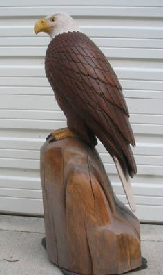 wood carvings of eagle heads | Pictures of Wood Carvings Of Eagles