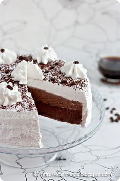 Tort cu Cafea/ Cake with Coffee & Cocoa Romanian Desserts, Romanian Food, Sweet Tarts, Something Sweet, Yummy Cakes, Cake Designs, Vanilla Cake, Cheesecake, Food And Drink