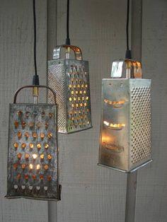 lámpara con ralladores