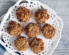 Looking for a quick, yummy breakfast or a nourishing afternoon snack? These moist and delicious cookies featuring bananas, oats, walnuts and lots of coconut are just the ticket. If you like, you can replace the protein powder with 2 tablespoons flaxseed meal and a few drops of pure vanilla extract.