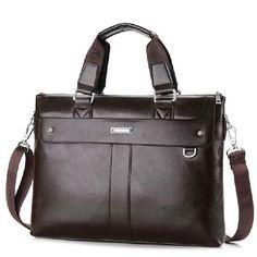Men's Casual Shoulder Bags Male Business Briefcase PU Leather Messenger Bag Computer Laptop Handbag Bag Men's Travel Bags XB137