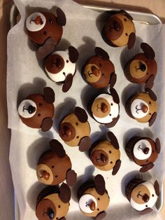 Puppy cupcakes for 1st Birthday