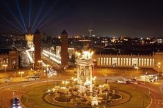 £129     #Barcelona, #Spain at night. Gorgeous.     Save 39% on a 4* stay in Barcelona with Flights And Breakfast included.