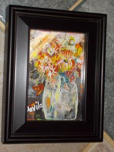 """ORIGINAL """"FLORAL MELODY"""" WATERCOLOR PAINTING HAND PAINTED BY TEXAS ARTIST SIGNED #Impressionism"""