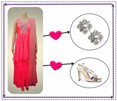 A perfect look for that elegant summer evening. A pink ruffled anarkali paired with stunning silver accessories
