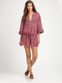 Great Tory Burch cover-up for lounging by the pool.