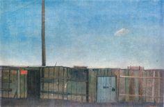 Kamil Lhoták - Ohrada s červenou tabulkou 1942 The Hobbit, Modern Art, Landscape, Painting, Kunst, Scenery, Painting Art, Paintings, Contemporary Art