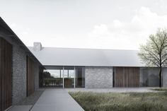 Modern Lodge, Modern Barn House, Modern Minimalist House, Arch House, House Roof, Residential Architecture, Architecture Design, Country Modern Home, Contemporary Barn