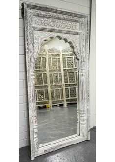 Find an antique mirror to reflect the beauty of your home. See hand carved mirrors, painted & vintage mirrors to suit all interiors at East Connection! Vintage Mirrors, Online Furniture Stores, Home Reno, Hand Carved, Oversized Mirror, Furniture Design, Carving, Indian, Antiques