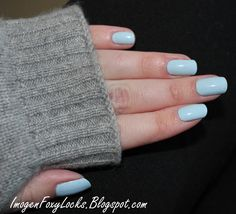 Imogen Foxy Locks: Nubar Baby Blue - Perfect Chanel RIVA Dupe!