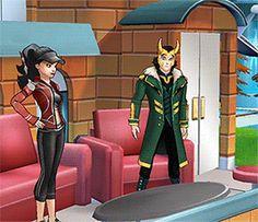"""Marvel's Avengers Academy """"With friends like these, who needs enemies? (aka, no wonder Loki turns to villainy) """" Marvel Dc, Marvel Comics, Marvel Academy, Loki Mythology, Loki Gif, Comic Superheroes, Loki Avengers, Stony, Marvel Cinematic Universe"""