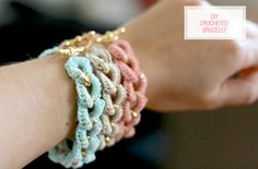 Bracelet chain with crochet