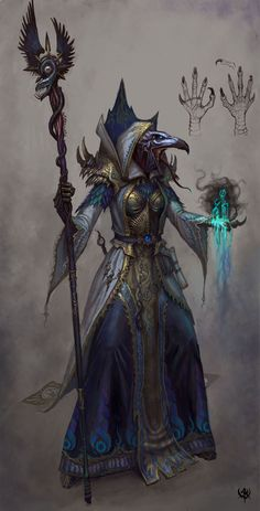 Chosen Magus of Tzeentchr | NOT OUR ART - Please click artwork for source | WRITING INSPIRATION for Dungeons and Dragons DND Pathfinder PFRPG Warhammer 40k Star Wars Shadowrun Call of Cthulhu and other d20 roleplaying fantasy science fiction scifi horror location equipment monster character game design | Create your own RPG Books w/ www.rpgbard.com