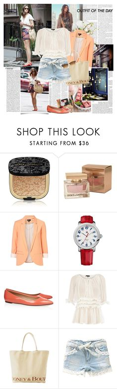 """Olivia Palermo"" by rainie-minnie ❤ liked on Polyvore featuring PLANT, Petit Bateau, NARS Cosmetics, Dolce&Gabbana, Tommy Hilfiger, J.Crew, Dorothy Perkins, Dooney & Bourke and Ray-Ban"