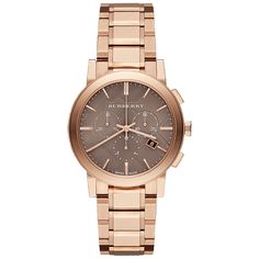 Burberry City #Watch #Rose #Brown #Ladies #Chronograph #Gift #Beautiful