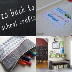 25 Back to school crafts!