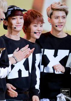 EXO - Chen, Xiumin and Sehun <3