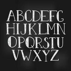 Chalk Lettering easy enough for me :) Chalkboard Markers, Chalkboard Designs, Chalk Markers, Chalkboard Art, Doodle Alphabet, Alphabet Quilt, Graffiti Font, Hand Drawn Fonts, Chalk Lettering