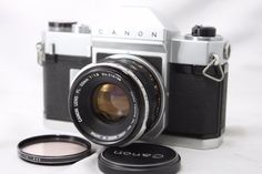 Canonflex RP 1960 - the simplified version of the professional Canonflex.  This model eliminated the exchageable finders, but was otherwise a professional grade competitor for the Nikon F.