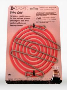 Stainless Steel Wire Grid  Essential for heating the kettle, coffeemakers and other glass cookware directly on electric stoves with exposed coils, preventing fracture.  Fits: All coffeemakers  Item: TKG  Price: $7.00