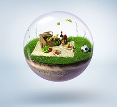Bubble Islands by Tobias Wüstefeld, via Behance