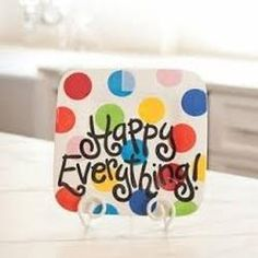 happy everything white mini platter-www.yepeddler.com The Happy Everything Mini Platter makes the perfect Teacher Gift!  You can give them the platter at the beginning of the school year and add an attachment for all the fun holidays in between!  Yay for teachers!!!