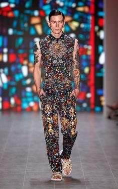 Kilian Kerner Spring/Summer 2015 collection during Mercedes-Benz Fashion Week Berlin.