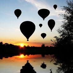 hot air Balloon Silhouettes, Australia