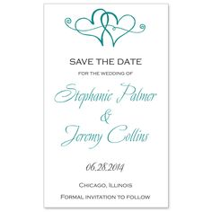 Exclusively Weddings | Twin Hearts Save the Date Magnet