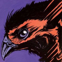 Marmont Hill Raven 2 inch Print on Canvas, Size: 18 inch x 18 inch, Multicolor