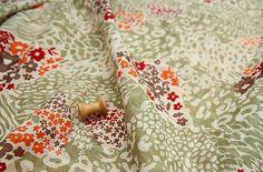 SST84-algodón tela de lino retro in110cm ancha de Stylish Scents por DaWanda.com