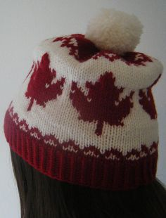 A toque fit for a Canuck, eh! by Lyndsay Richardson. In Canada, toque or tuque /ˈtuːk/ is the common name for a knitted winter hat, or watch cap (also called a beanie); Knitting Stitches, Knitting Patterns Free, Free Knitting, Baby Knitting, Crochet Patterns, Leaf Knitting Pattern, Free Pattern, Knitting Projects, Crochet Projects