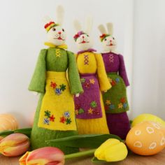 three little bunny maidens will also be joining the festivities! and serving up some yummy morning carrot cakes :-) http://www.craftspring.com/product/beatrix-bunny-doll-yellow/ $18