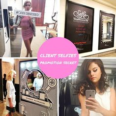 The power of a selfie. There is no better testimonial than a client's endorsement in an image. If posted to social media outlets a client selfie can expose your salon to tons of potential new clients. Instead of wishing for this kind of exposure, add it to your marketing strategy and make it happen! #salonselfies