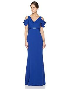 87a460708a2 Shop the latest collection of Social Graces Women s Cold Shoulder Cowl Neck  Short Sleeve Beaded Waist Gown from the most popular stores - all in one  place.