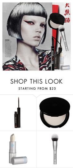 """Untitled #1188"" by blackfury ❤ liked on Polyvore featuring Schönheit, shu uemura, Shiseido, Panda, Lipstick Queen, Beauty, Graphic und blackfury"