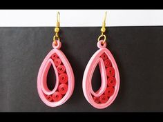 DIY Craft Ideas-How to make Beautiful Quilling Earring Black New design -Paper Art Quilling - YouTube